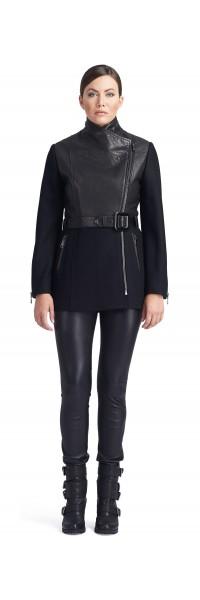 Arianna  Wool Leather Jacket