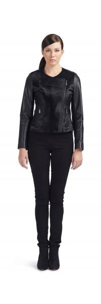 Beth Black Calf Leather Jacket