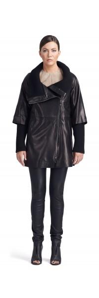 Isabella Black Leather Jacket