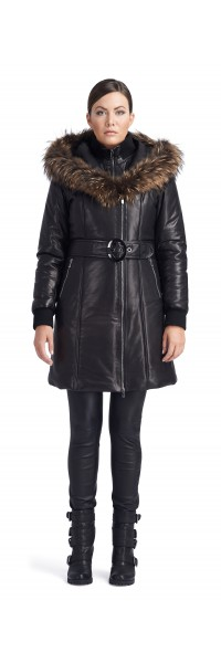 Julietta Black Puffy Coat