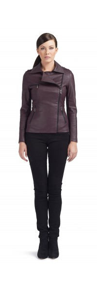 Mary Black Stretch Leather Perfecto Jacket