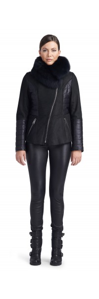 Paige Black Shearling Jacket