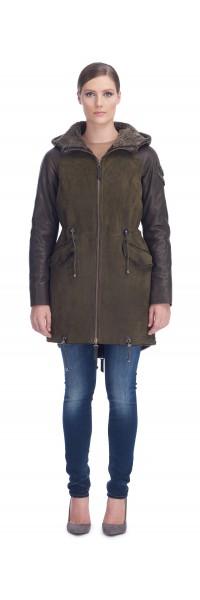 Cestina Army Shearling Coat