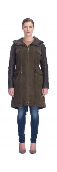 Clara Army Shearling Coat