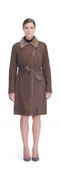 Dina Taupe Shearling Coat