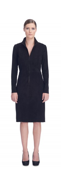 Eliza Black Stretch Suede Dress