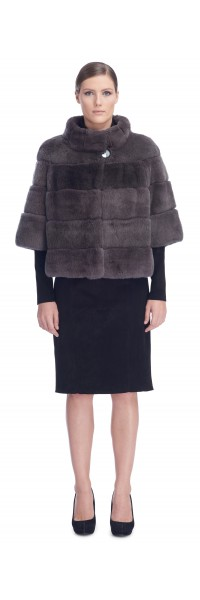 Katerina Charcoal Rex Fur Jacket