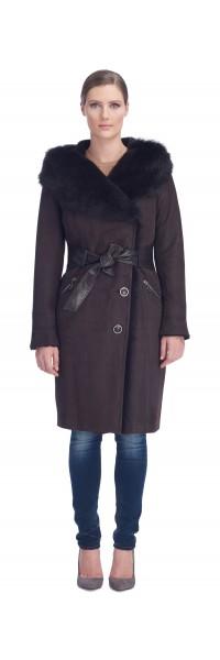 Lea Brown Shearling Coat