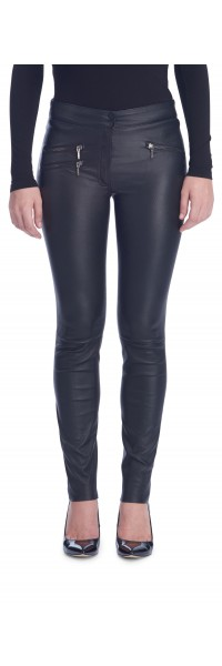 Maggie Black Stretch Leather Pants
