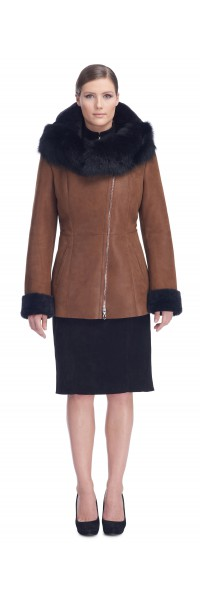 Nadine Tan/Brown Shearling Jacket