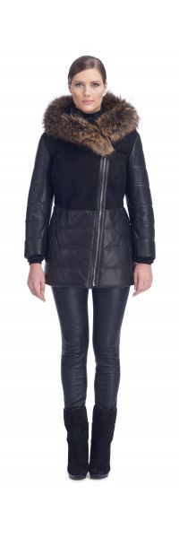 Tonia Black Shearling Jacket