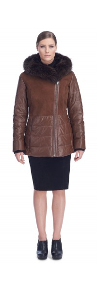 Tonia Tan/Brown Shearling Jacket