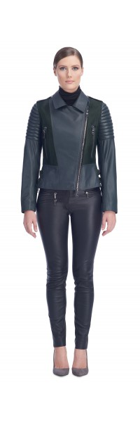 Tori Emerald Calf/Leather Jacket