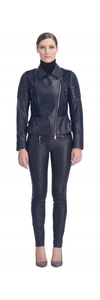 Tori Navy Calf/Leather Jacket