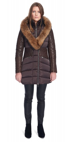 Becky Brown Puffy Coat