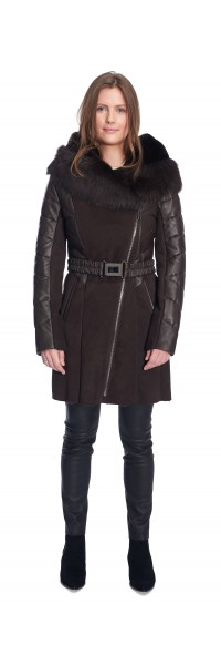 Melanie Brown Shearling Coat