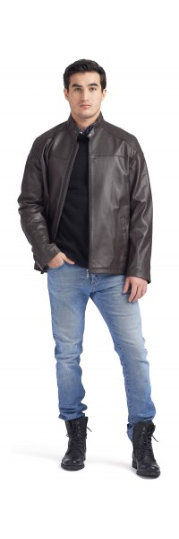 Fernando Brown Moto Jacket
