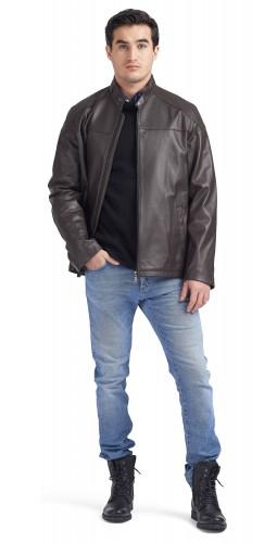 Fernando Brown Moto Jacket