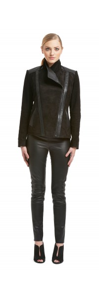 Kate Black Suede/Leather Jacket