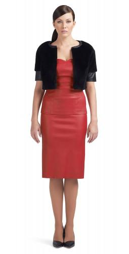 Sandra fur leather combo Bolero